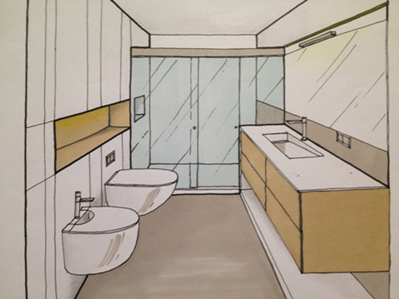 Esbós d'un bany per un projecte d'interiorisme de Sese Jover Interiors