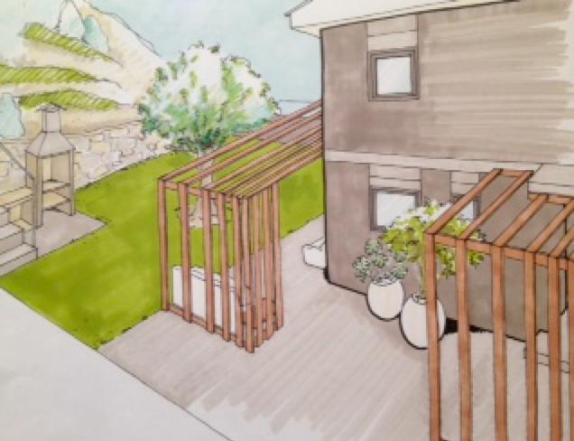 Un projecte d'interiorisme en un espai exterior (proposta A), un article de Sese Jover Interiors.