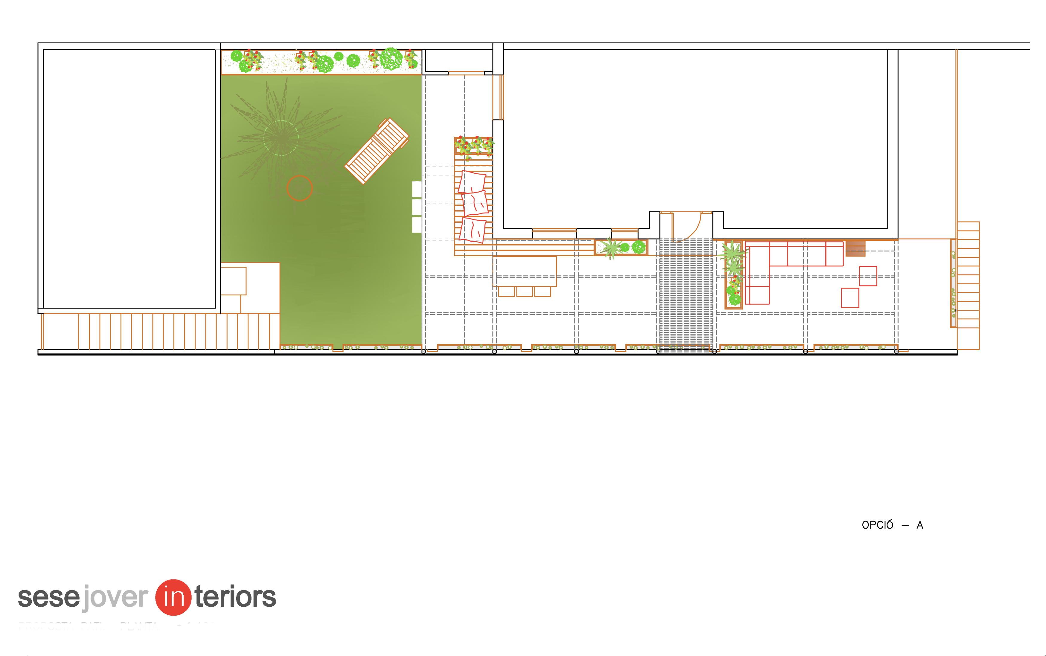 Un projecte d'interiorisme en un espai exterior (proposta B), un article de Sese Jover Interiors.