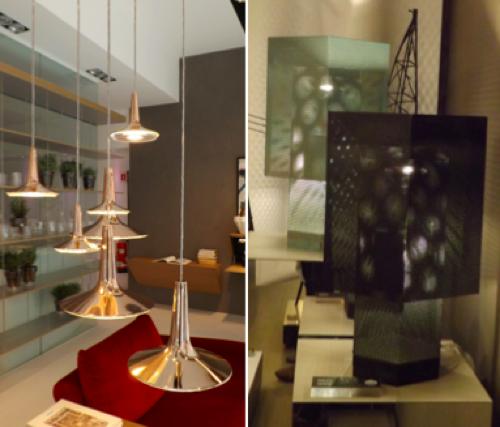 La llum i la il·luminació: darreres tendències en decoració i interiorisme vistes a la Fira de Milà - els metalls aplicats a la il·luminació. Un article de @SeseJover